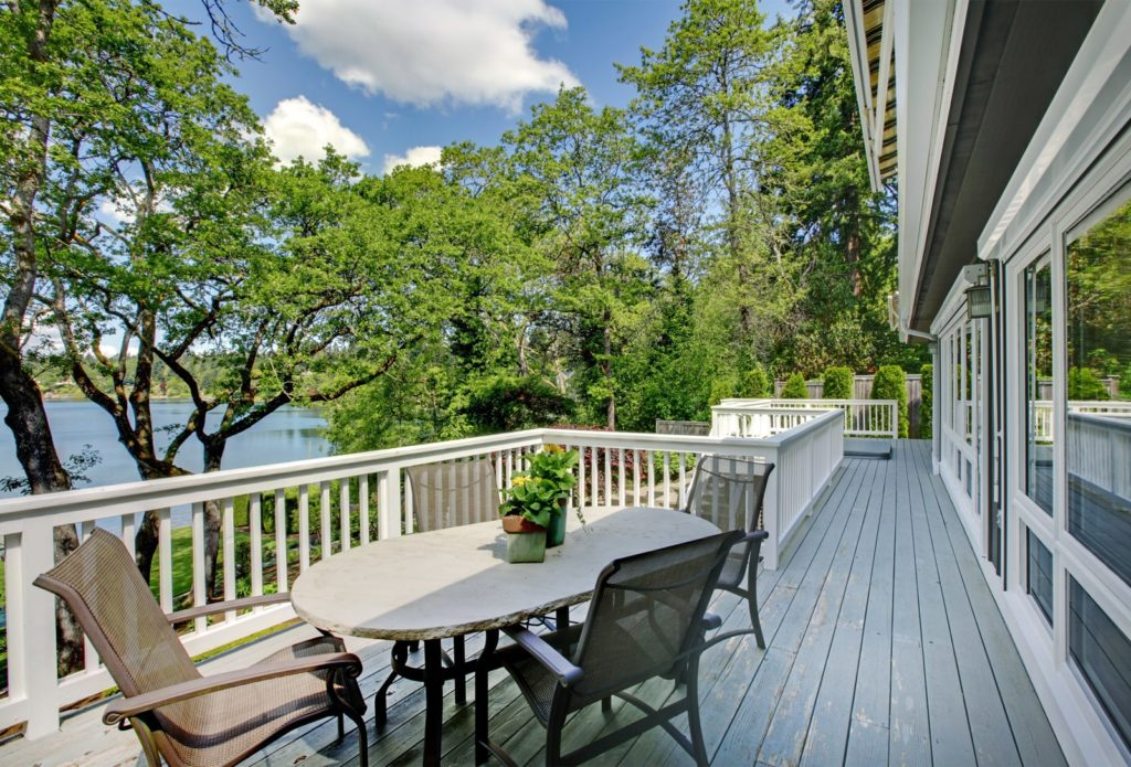 a porch view from a home in Pickens, South Carolina